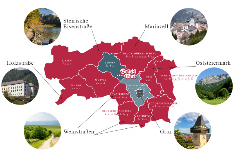 Styria Excursions Map